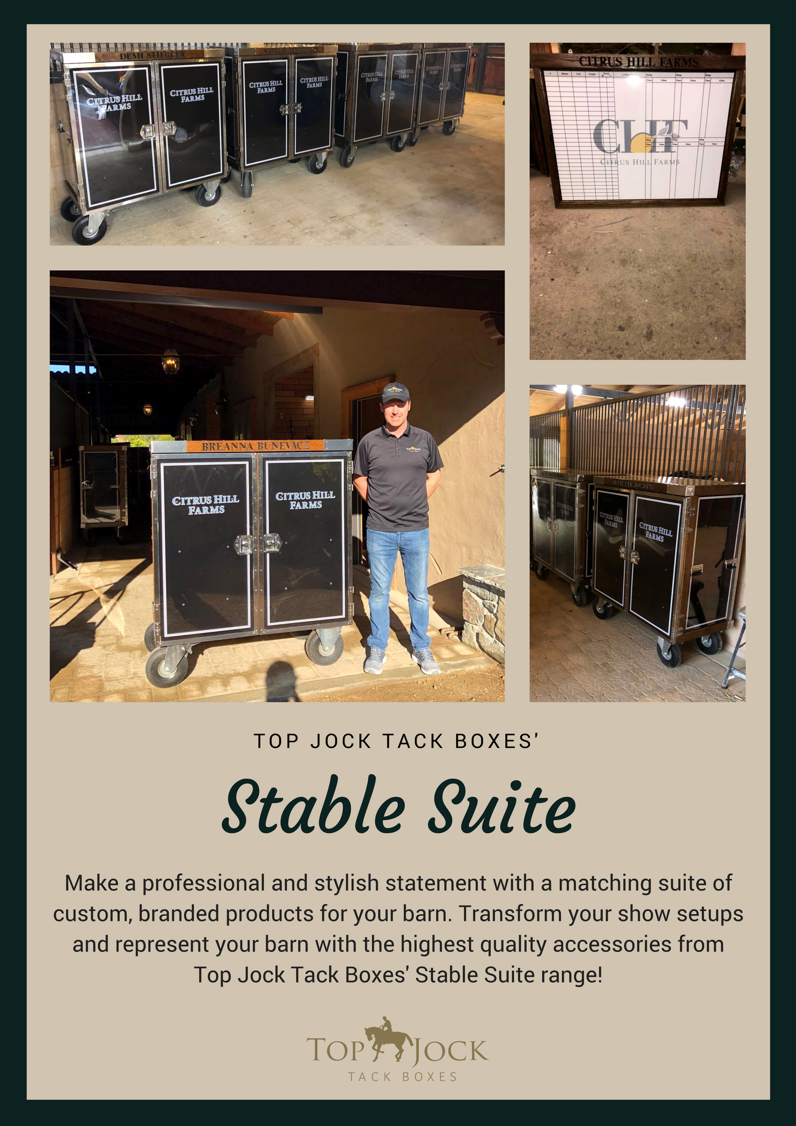 Step up Your Show Setup with Top Jock Tack Boxes' Stable Suite Range