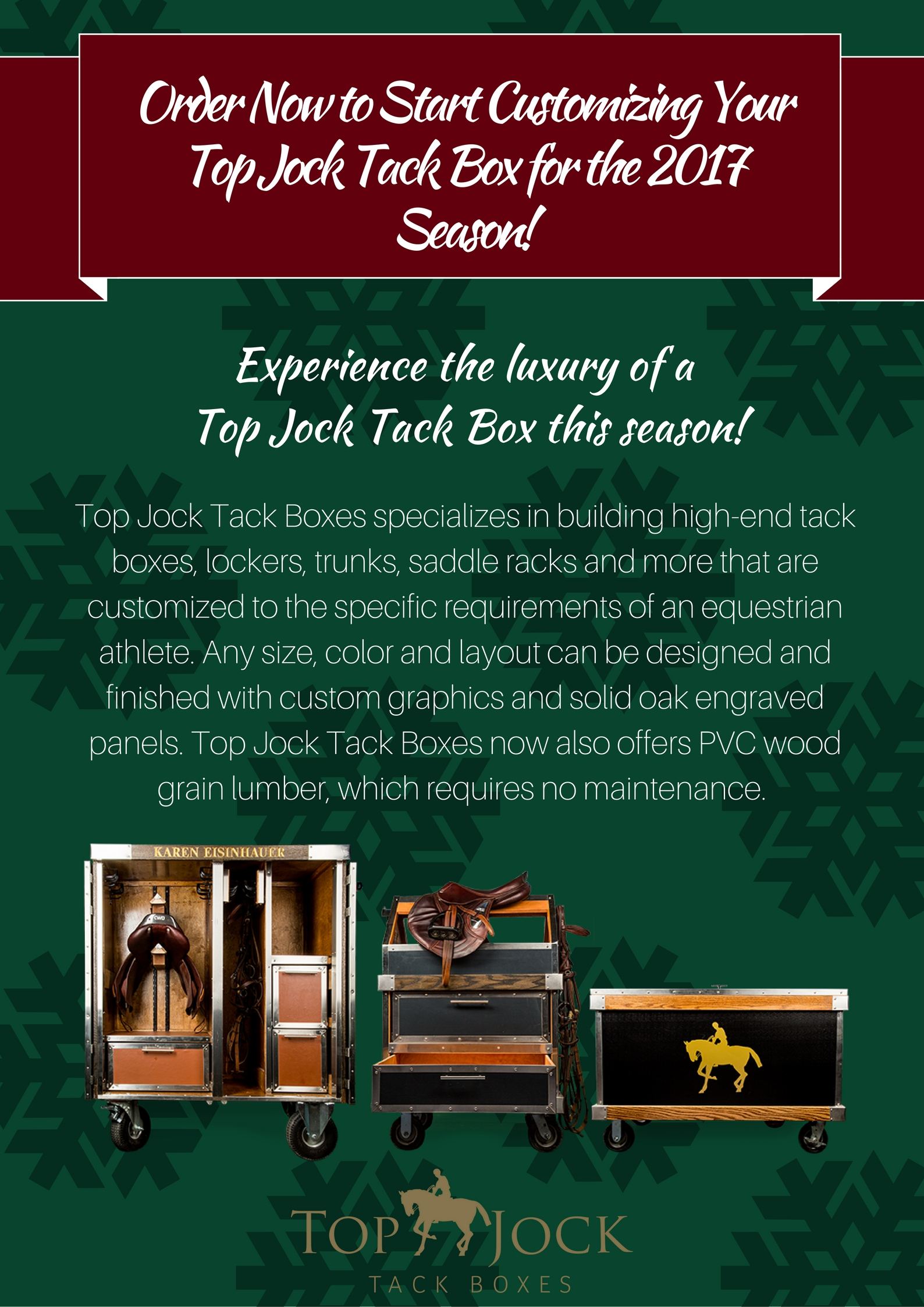 Order Now to Start Customizing Your Top Jock Tack Box for the 2017 Season!